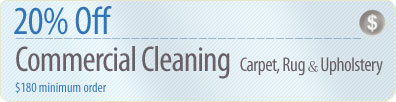 Cleaning Coupons | 20% off commercial cleaning | Westchester Rug Cleaners