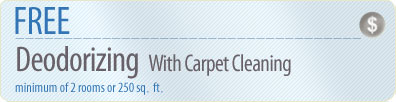 Cleaning Coupons | Free deodorising with carpet cleaning | Westchester Rug Cleaners