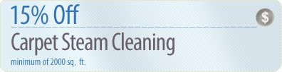 Cleaning Coupons | 15% off carpet steam cleaning | Westchester Rug Cleaners